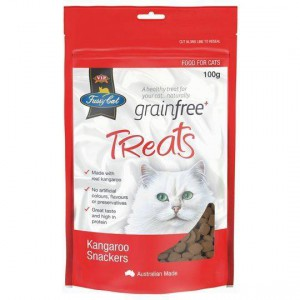 Vip Fussy Cat Grain Free Kangaroo Snackers Cat Treats
