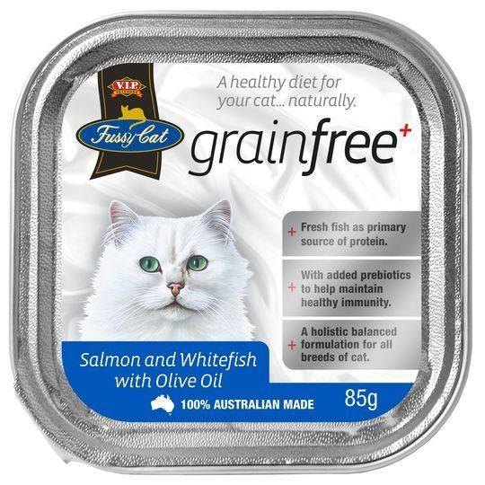 Vip Fussy Cat Grain Free Salmon & Whitefish With Olive Oil Cat Food