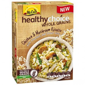 Mccain Healthy Choice Wholegrains Chicken & Mushroom Risotto