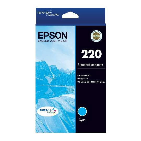Epson Printer Ink 220 Std Capacity Cyan