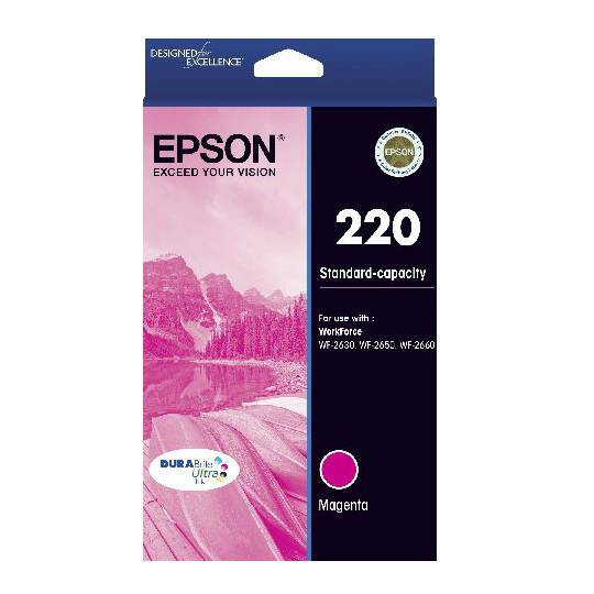 Epson Printer Ink 220 Std Capacity Magenta