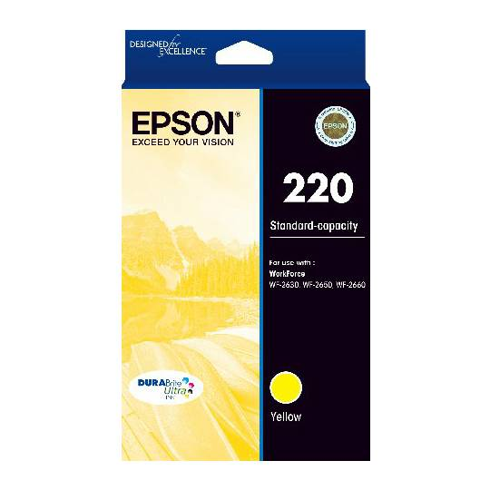 Epson Printer Ink 220 Std Capacity Yellow