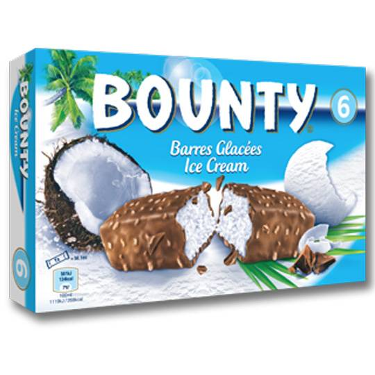 Bounty Ice Cream Bars Bar