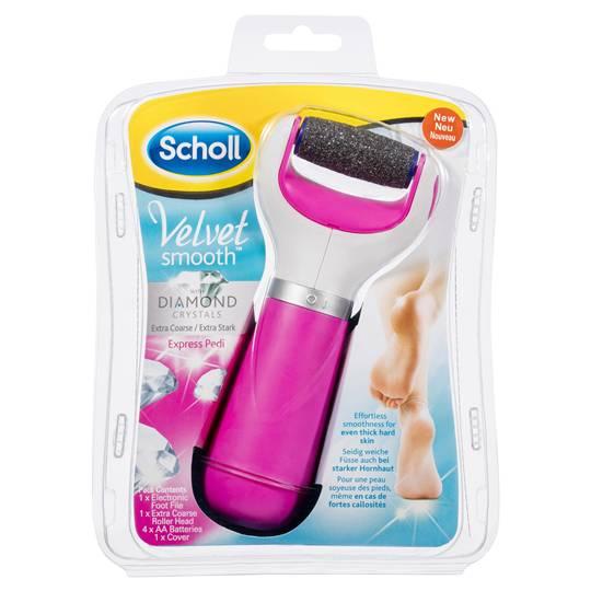 Scholl Foot File Velvet Smooth Pink