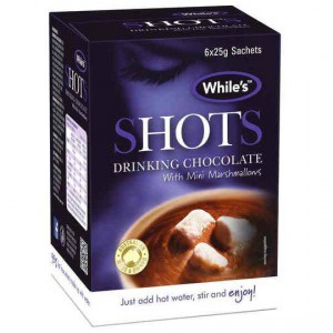 While's Shots Drinking Chocolate With Mini Marshmallows