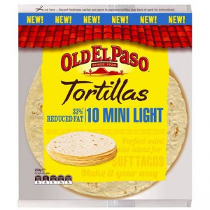 Old El Paso Tortillas Mini Light