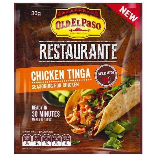 Old El Paso Restaurante Chicken Tinga Seasoning