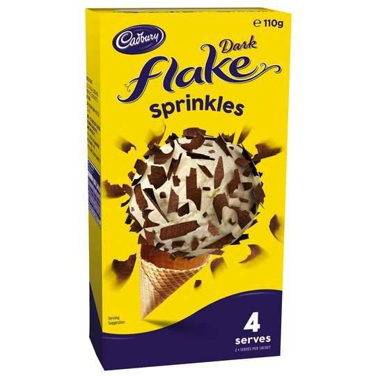 Cadbury Dark Flake Sprinkles