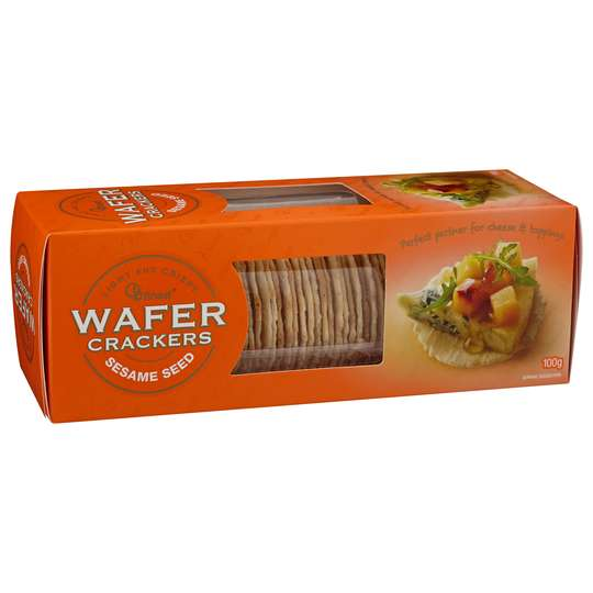 Ob Finest Sesame Wafer Crackers