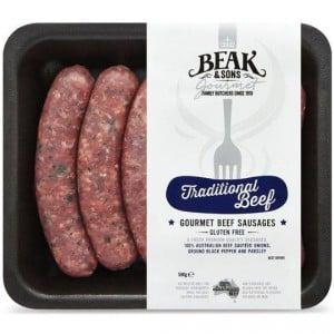 Beak & Sons Gourmet Beef Sausages