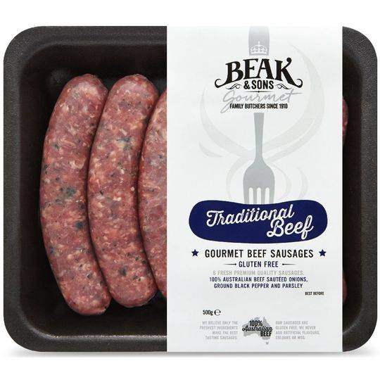 Beak & Sons Gourmet Beef Sausages