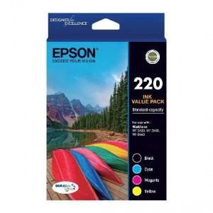 Epson Printer Ink 220 Std Capacity Value Pack
