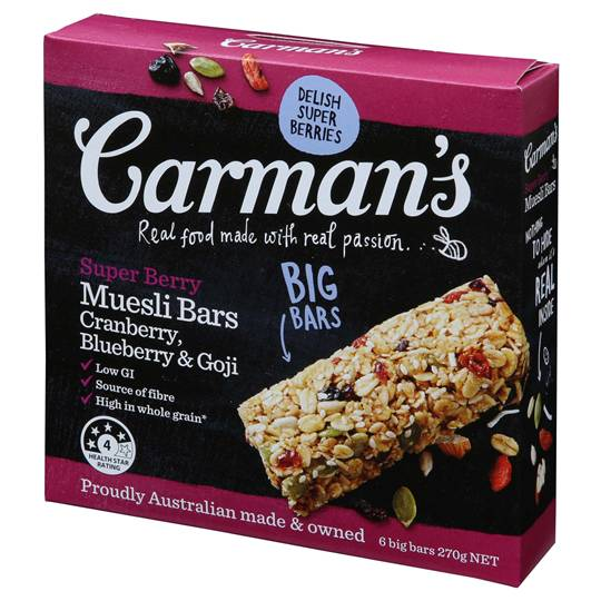 Carman's Super Berry Muesli Bars