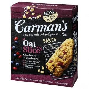 Carman's Cranberry & Blueberry Oat Slice