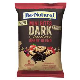 Be Natural Mini Dark Choc Berry Bites