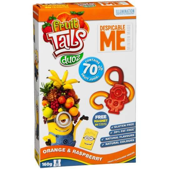 Despicable Me Muesli Bars Fruit Tails 160g