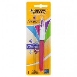 Bic Ball Point Pen Charm 4 Colour