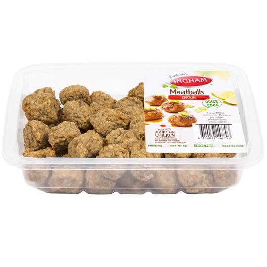 Ingham Quick Cook Chicken Meatballs