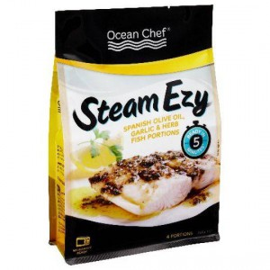 Ocean Chef Steam Ezy Natural Fish Portions With Olive Oil Garlic & Herb Sauce