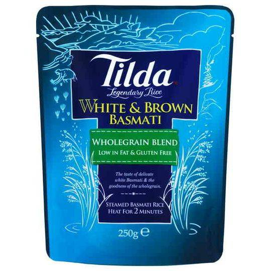 Tilda White & Brown Basmati Rice Wholegrain Blend