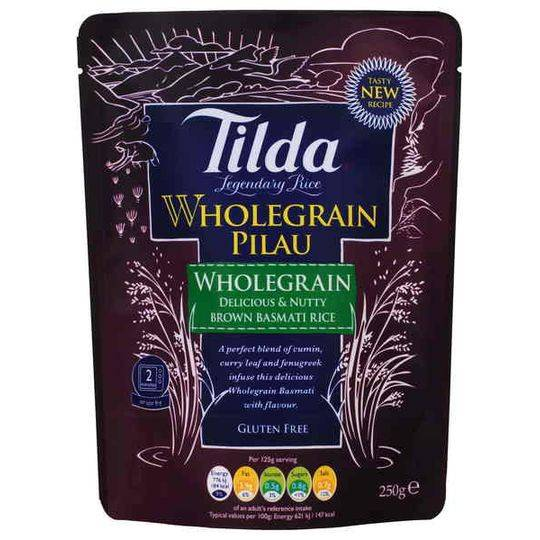 Tilda Wholegrain Pilau Steamed Basmati Rice