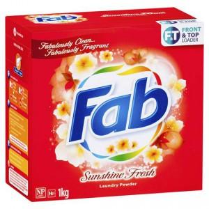 Fab Sunshine Fresh Front & Top Loader Laundry Powder