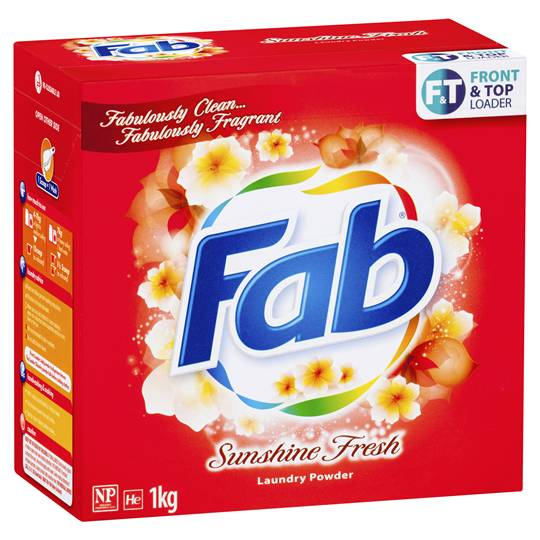 Fab Sunshine Fresh Front & Top Loader Laundry Powder
