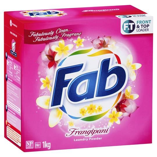Fab Frangipani Front & Top Loader Laundry Powder