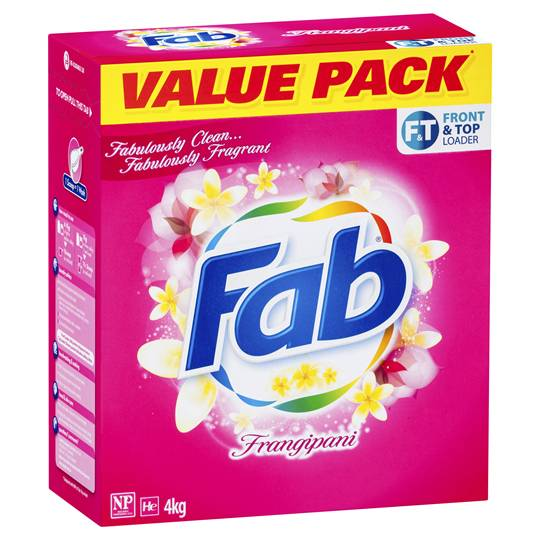 Fab Frangipani Front & Top Loader Laundry Powder