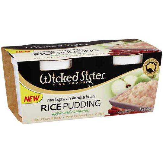 Wicked Sister Vanilla Bean Rice Pudding Apple & Cinnamon