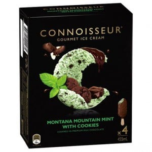 Connoisseur Ice Cream Mint Choc Cookie