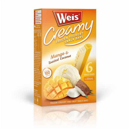 A review for Weis Frozen Yoghurt Mango & Toasted Coconut