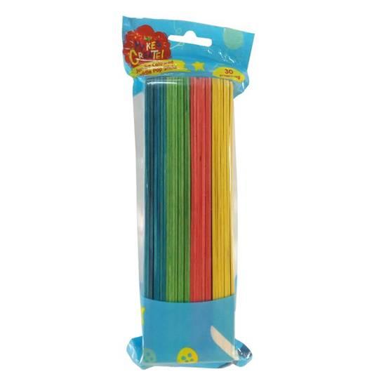 Make & Create Jumbo Coloured Paddle Pop Sticks