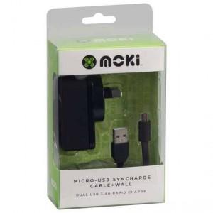 Moki Sync & Charge Micro Usb Cable Wall Kit