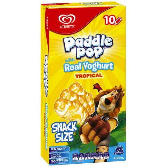 Streets Paddle Pop Snack Size Ice Cream Tropical Yoghurt