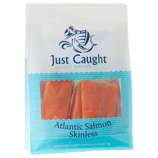 Just Caught Atlantic Salmon Skinless