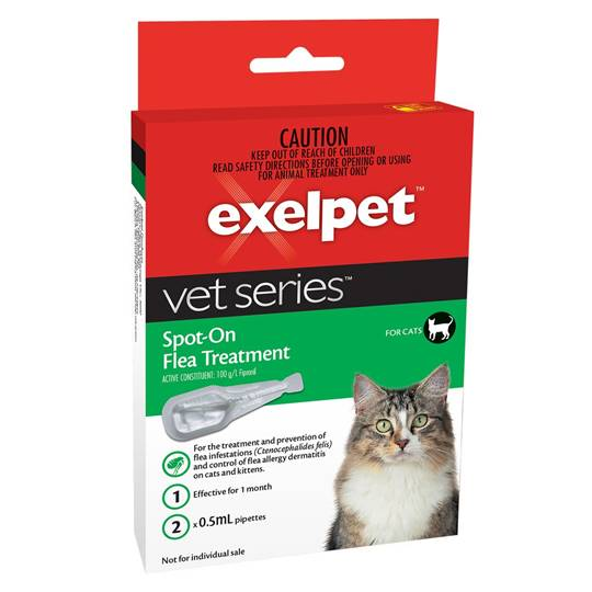 Jessica reviewed Exelpet Spot-on Flea Treatment For Cats