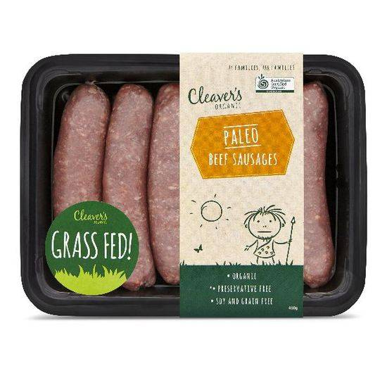 Cleaver's Organic Paleo Beef Sausage