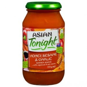 Asian Tonight Simmer Sauce Honey Sesame Garlic