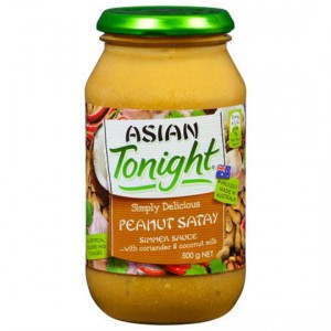 Asian Tonight Simmer Sauce Peanut Satay