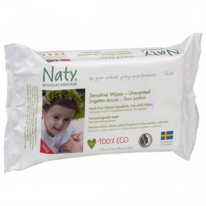 Naty By Nature Babycare Eco Sensitive Wipes Unscented