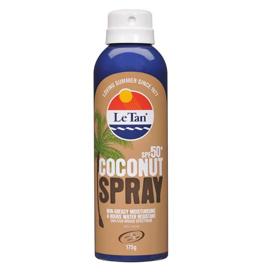 Le Tan Coconut Spf 50+ Aerosol Spray