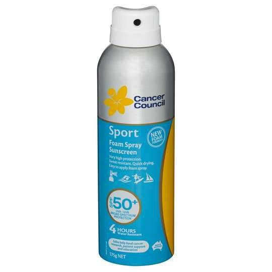 Cancer Council Sport Spf 50+ Aerosol Spray Lotion