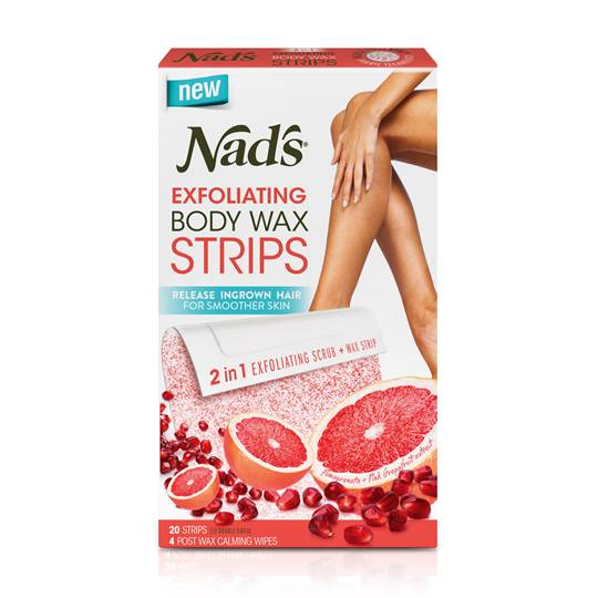 Nads Exfoliating Body Wax Strips