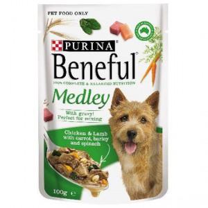 Beneful Chicken & Lamb Medley Pouch