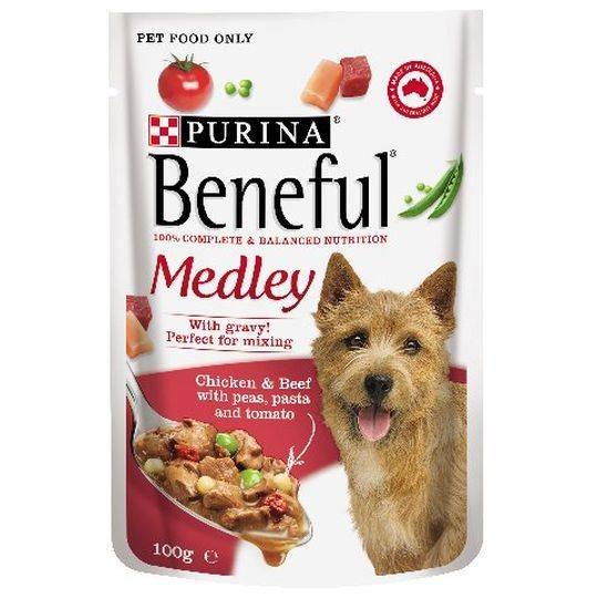 Beneful Beef & Chicken Medley Pouch