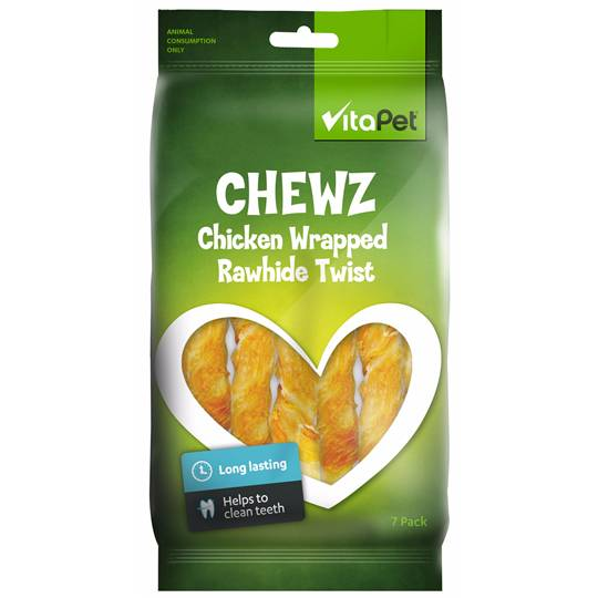 Vitapet Chewz Chicken Wrapped Rawhide Twist