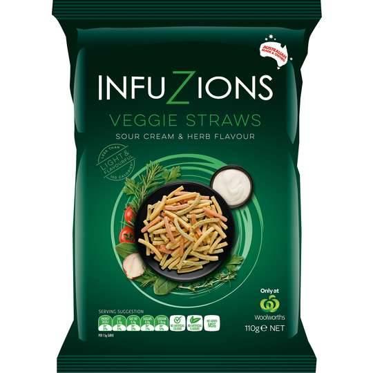 Infuzions Sour Cream & Herb Veggie Straws