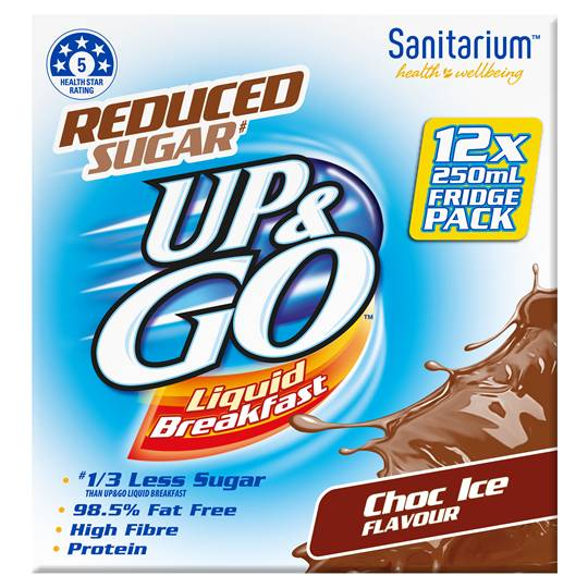 Sanitarium Up&go Reduced Sugar Choc Ice