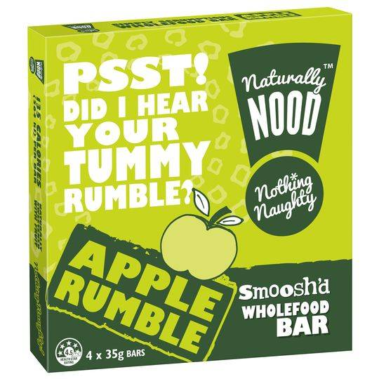 Naturally Nood Bar Apple Rumble 4pk